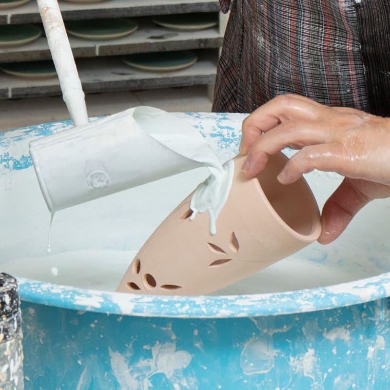 Obori Soma-ware Kyogetsu Pottery/ Glazing process-1